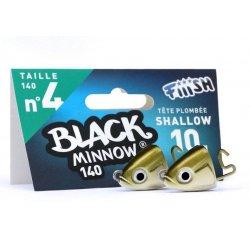 Black Minnow 140 Cabeza Shallow 10g Kaki/silver