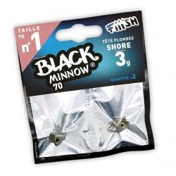 Black Minnow 70 Cabeza Shore 3g Kaki/silver