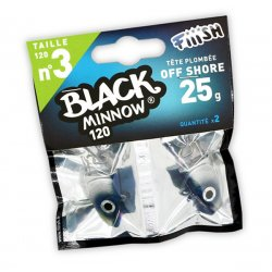 Black Minnow 120 Cabeza Off Shore 25g Blue