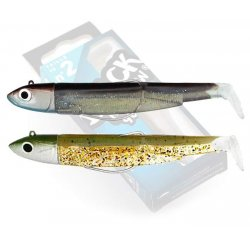 Black Minnow 90 double combo off shore 10gr Kaki Paillete-Sexy Brown