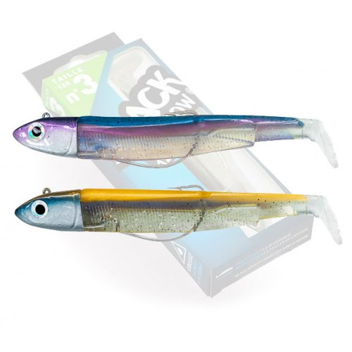 Black Minnow 120 Double Combo Off Shore 25g Gold - Bleu Rainbow