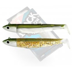 Black Minnow 70 double combo off shore 6gr Kaki - Kaki Paillete