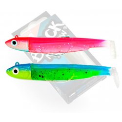 Black Minnow 70 double combo Off Shore 6gr Rose Fluo - Sleepy Green