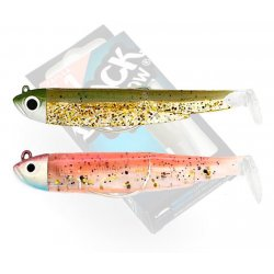 Black Minnow 70 double combo Shore 3gr Wine Glitter - Kaki Paillete