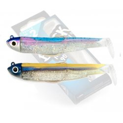 Black Minnow 90 double combo shore 5gr Rainbow - OR BLue