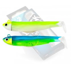 Black Minnow 90 Doble Combo Search 8gr Jaune Fluo - Sleepy Green