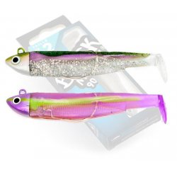 Black Minnow 90 Doble Combo Search 8gr Green Morning - Purple Impact