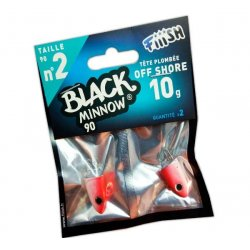 Black Minnow 90 Cabeza Off Shore 10g Rouge