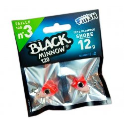Black Minnow 120 Cabeza Shore 12g Rouge