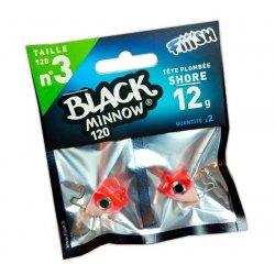 Black Minnow 120 Cabeza Shore 12g Rouge