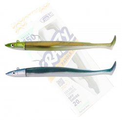 Fiiish Crazy Sand EEL 150 Doble combo Off Shore 20g Kaki