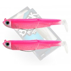 Black Minnow 70 double combo shore 3gr Rose Fluo